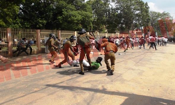 AFFNA UNIVERSITY STUDENTS PROTEST sri lanka