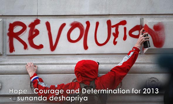 Hope, Courage and Determination  for 2013