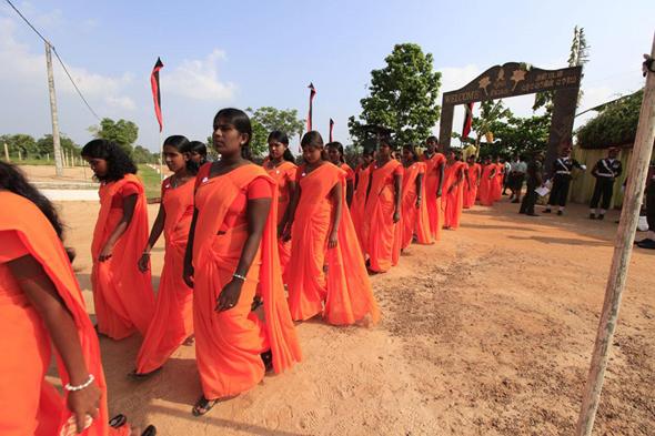 The ceremony was held at Army training school at Barathipuram, Kilinochchi on Saturday 17 November.