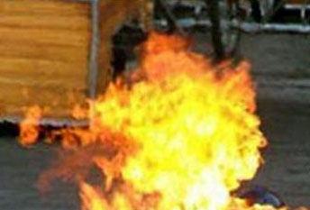 Buddhist Monk on Fire